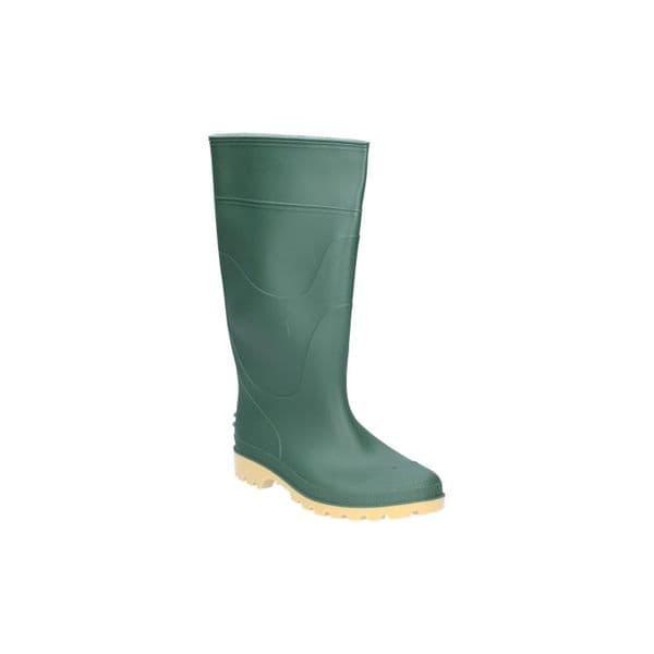 Dikamar Pricebuster/Evora Wellington Plain PVC Wellingtons Green